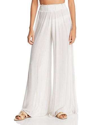 Ramy Brook - Athena Metallic Stripe Swim Cover-Up Pants