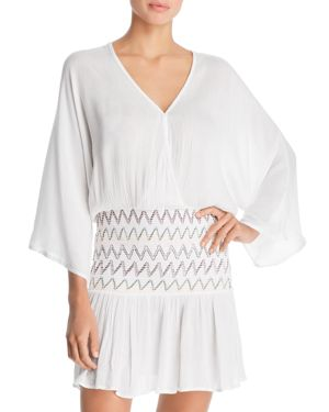 SOLUNA Heat Wave Tunic Swim Cover-Up in White