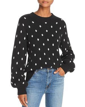 LOST AND WANDER Lost + Wander Halley Geo-Pattern Sweater in Black
