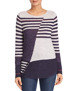 NIC and ZOE - Composition Lace-Up Sweater