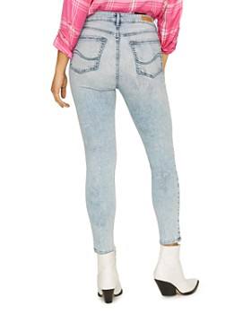 Sanctuary - Social High Rise Ankle Jeans in Mountain Blue Acid