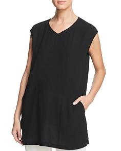 Eileen Fisher - Silk V-Neck Tunic Top