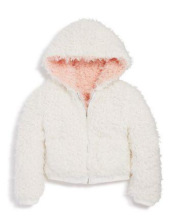 Bardot Junior - Girls' Reversible Sherpa Zip Hoodie Jacket - Big Kid