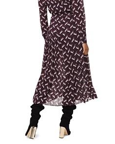 MICHAEL Michael Kors - Chevron Georgette Pleated Midi Skirt