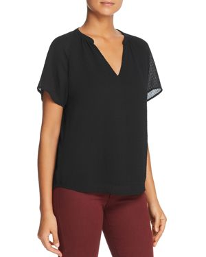 FINN & GRACE Gauze Top in Black