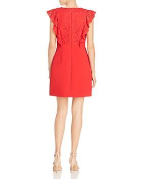 BCBGMAXAZRIA - Eve Lace-Trimmed Ruffled Sheath Dress