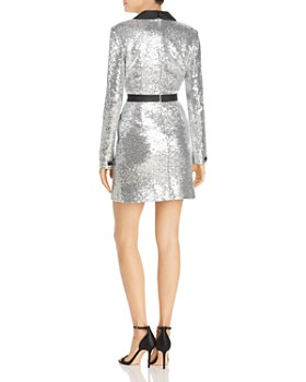 Rachel Zoe - Meryl Sequin Faux Wrap Dress - 100% Exclusive