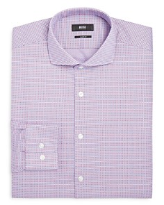 BOSS - Textured Regular Fit Dress Shirt
