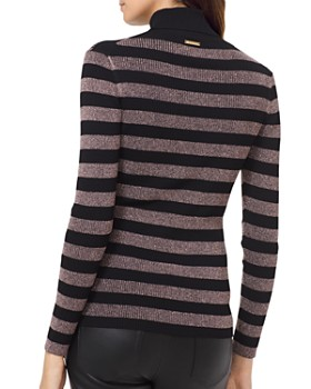 MICHAEL Michael Kors - Metallic Striped Turtleneck Sweater