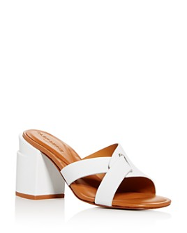 Clergerie - Women's Anna Block-Heel Slide Sandals