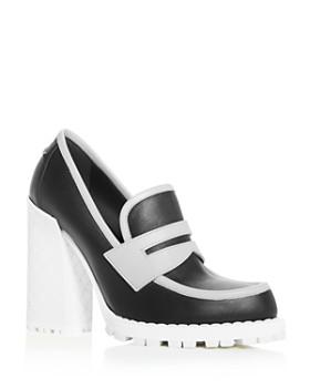 Bottega Veneta - Women's High Block-Heel Loafers