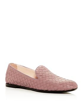 Bottega Veneta - Women's Woven Smoking Slippers