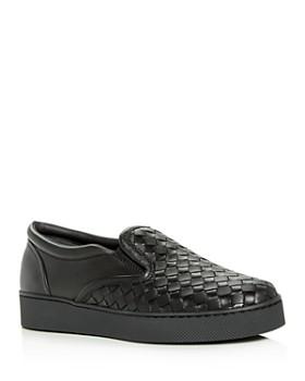Bottega Veneta - Women's Woven Slip-On Sneakers