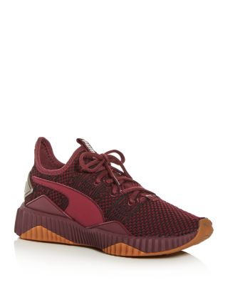 Women's Defy Luxe Knit Low Top Sneakers by Puma