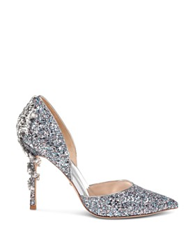 Badgley Mischka - Women's Vogue III Crystal Embellished d'Orsay Pumps - 100% Exclusive