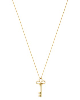 """Roberto Coin - 18K Yellow Gold Small Key Pendant Necklace, 18"""""""