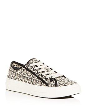 Salvatore Ferragamo - Men's Anson Gancini Print Low-Top Sneakers