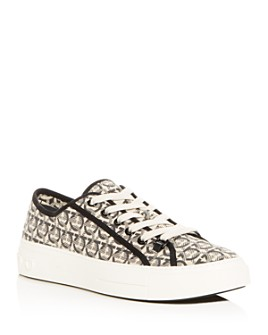 Salvatore Ferragamo - Men's Anson Gancini Print Low-Top Sneakers