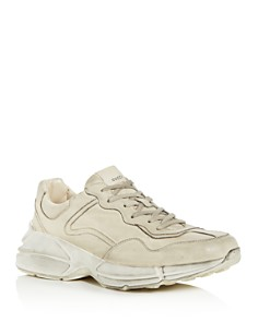 Gucci - Men's Rhyton Distressed Leather Sneakers