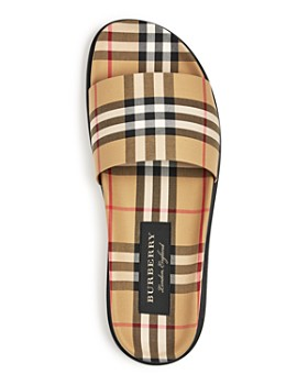 Burberry - Men's Check Canvas Slide Sandals