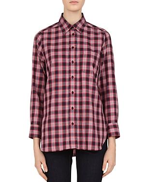 Gerard Darel Plaid Button-Down Cotton Shirt