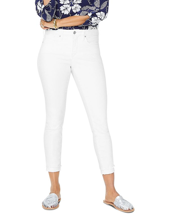 Nydj AMI ANKLE SKINNY JEANS IN OPTIC WHITE