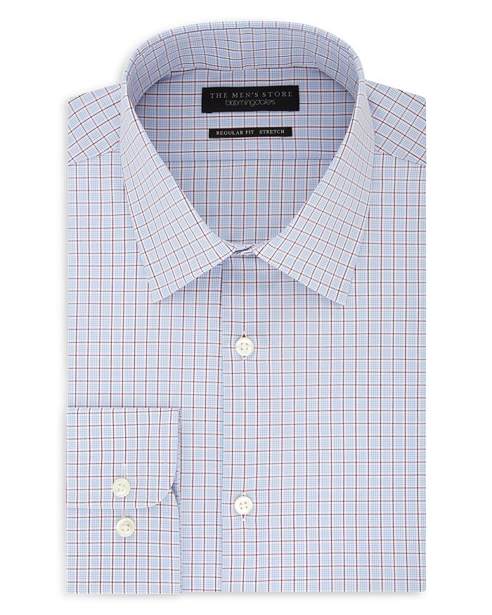 The Men's Store at Bloomingdale's - Grid-Pattern Regular Fit Dress Shirt - 100% Exclusive