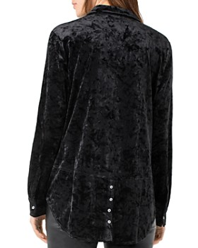 Liverpool - Crushed Velvet Button-Down Shirt