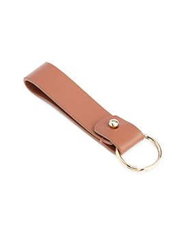 ROYCE New York - Pebbled Leather Loop Key Fob