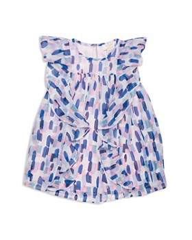 a719b52f1 kate spade new york - Girls' Ruffled Brushstroke-Print Dress - Little Kid