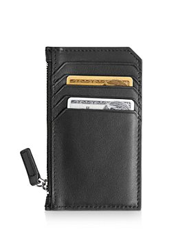 ROYCE New York - Leather Zipper Credit Card Case