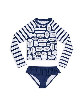 2ed71397de kate spade new york - Girls' Speech-Bubble Rashguard 2-Piece Swimsuit -