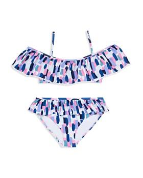 kate spade new york - Girls' Off-the-Shoulder 2-Piece Swimsuit - Big Kid