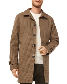Michael Kors - Belted Plaid Overcoat