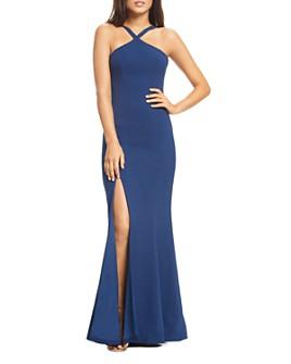 Dress the Population - Brianna High-Neck Mermaid Gown
