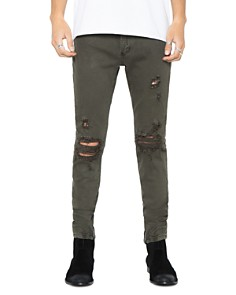 PATRON SAINT OF - Wrath Straight Slim Fit Jeans in Army Trash