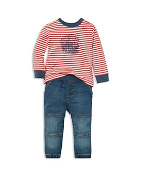 Ralph Lauren - oys' Striped Graphic Tee & Denim Jogger Pants Set - Baby