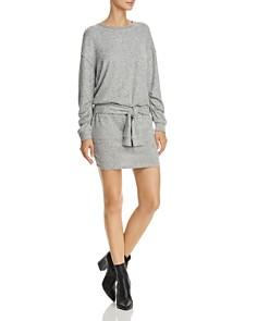 Splendid - Addison Tie-Front Sweatshirt Dress