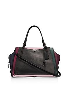 COACH - Dreamer 36 Metallic Leather Color-Block Shoulder Bag