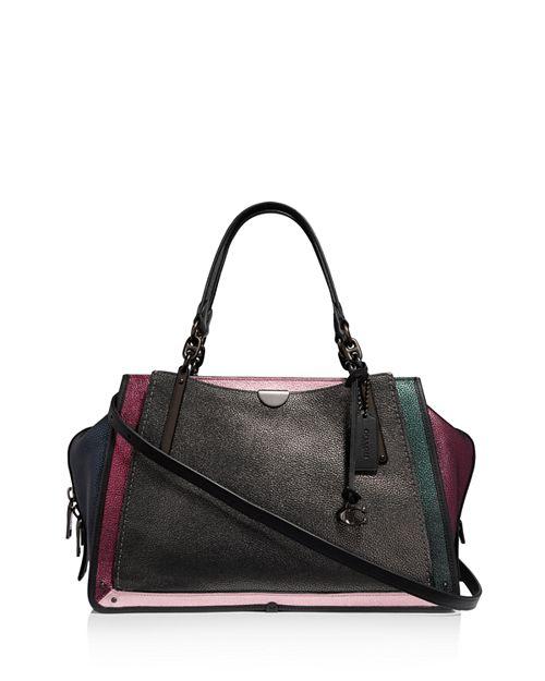 Coach Dreamer 36 Metallic Leather Color Block Shoulder Bag