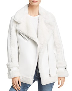 Heurueh - BTO Faux-Shearling Moto Jacket - 100% Exclusive