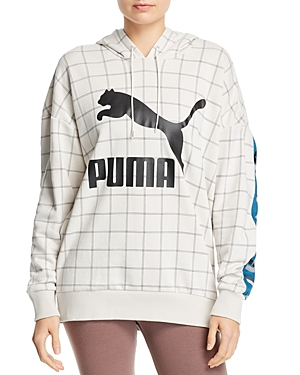 PUMA | Puma Revolt Windowpane Hooded Sweatshirt | Goxip