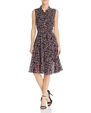nanette Nanette Lepore Sleeveless Floral Print Shirt Dress