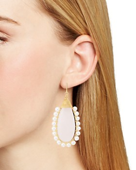 Beck Jewels - Rose Lolita Cultured Freshwater Pearl Drop Earrings