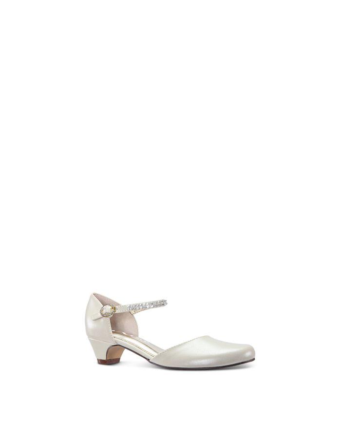 Nina Girls' Cera Embellished D'Orsay Ankle Strap Flats - Little Kid, Big Kid  | Bloomingdale's