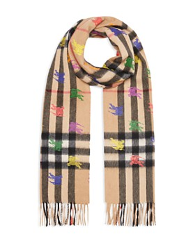 Burberry - Knight Giant Check Cashmere Scarf