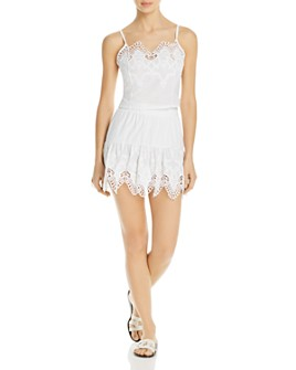 Peixoto - Anassa Embroidered Cropped Top & Skirt Swim Cover-Up