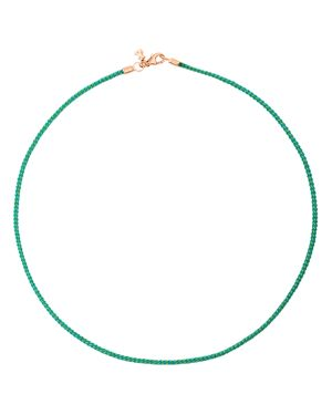 TOUS Turquoise Cord Choker Necklace, 15.75 in Blue/Rose Gold