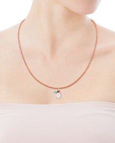 TOUS - Tiny Mother-Of-Pearl & Amazonite Pendant
