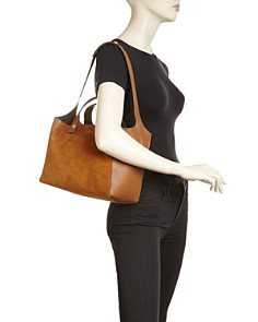 Tory Burch - Rory Mini Suede & Leather Tote